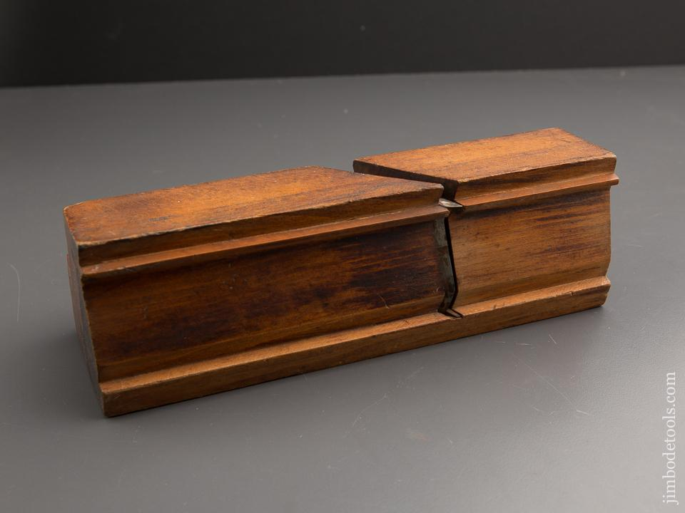 FAT Over Three inch Wide Crispy Complex Molding Plane by P. BROOKS E. HARTFORD CT circa 1840-1850 FINE - 87232