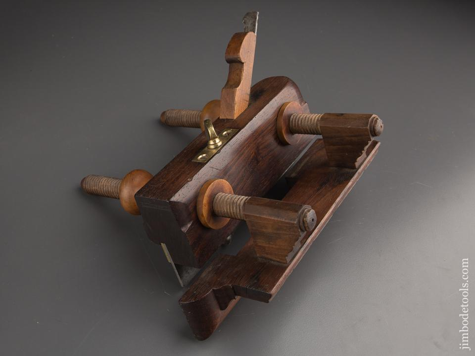 Rare! J.F. RANSOM Rosewood Plow Plane circa 1840 Watertown, NY - 87260