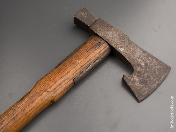 Unusual 7 x 15 1/2 inch Strapped Axe - 87287