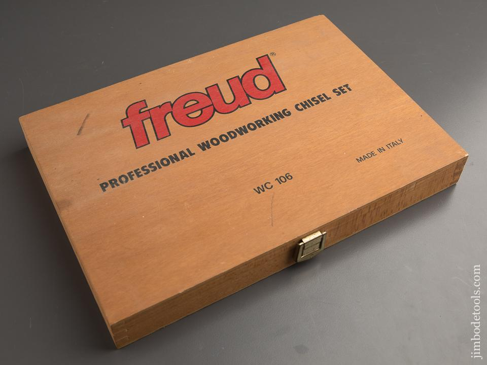 FREUD No. WC 106 Set of Six Boxwood Handled Chisels NEAR NEW in Original Box - 87488