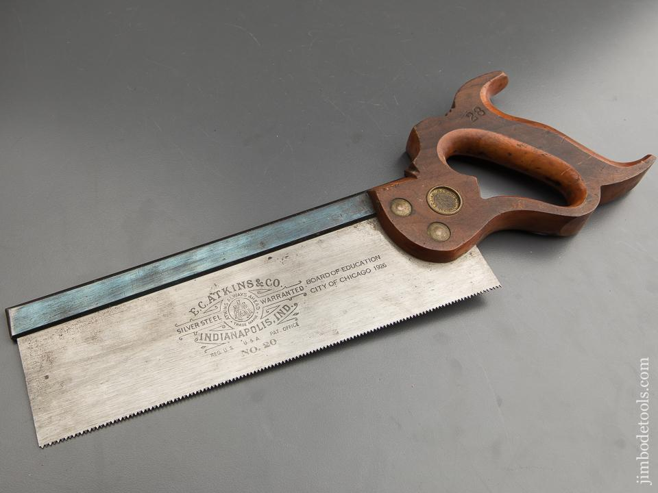 NEAR MINT! 14 point 10 inch Rip ATKINS Dovetail Saw circa 1926 - 87575