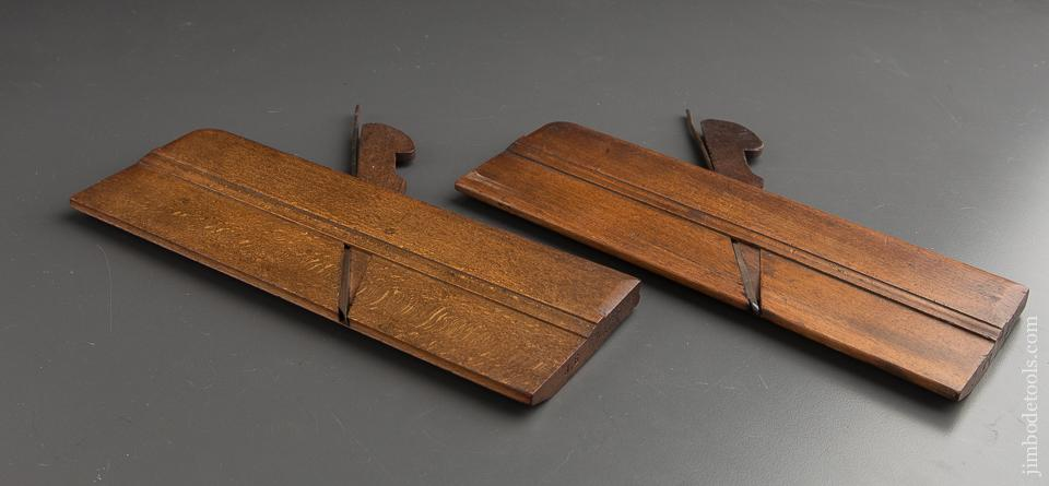 VARVILL & SONS No. 2 SKEWED Hollow & Round Moulding Planes circa 1873-1904 YORK - 87578
