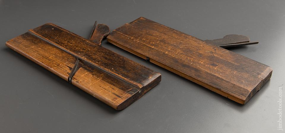 Pair of GLEAVE No. 4 Hollow & Round Moulding Planes circa 1854-68 Oldham St, Manchester - 87582