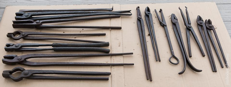 Great Collection of 14 Good Blacksmith's Tongs - 87680