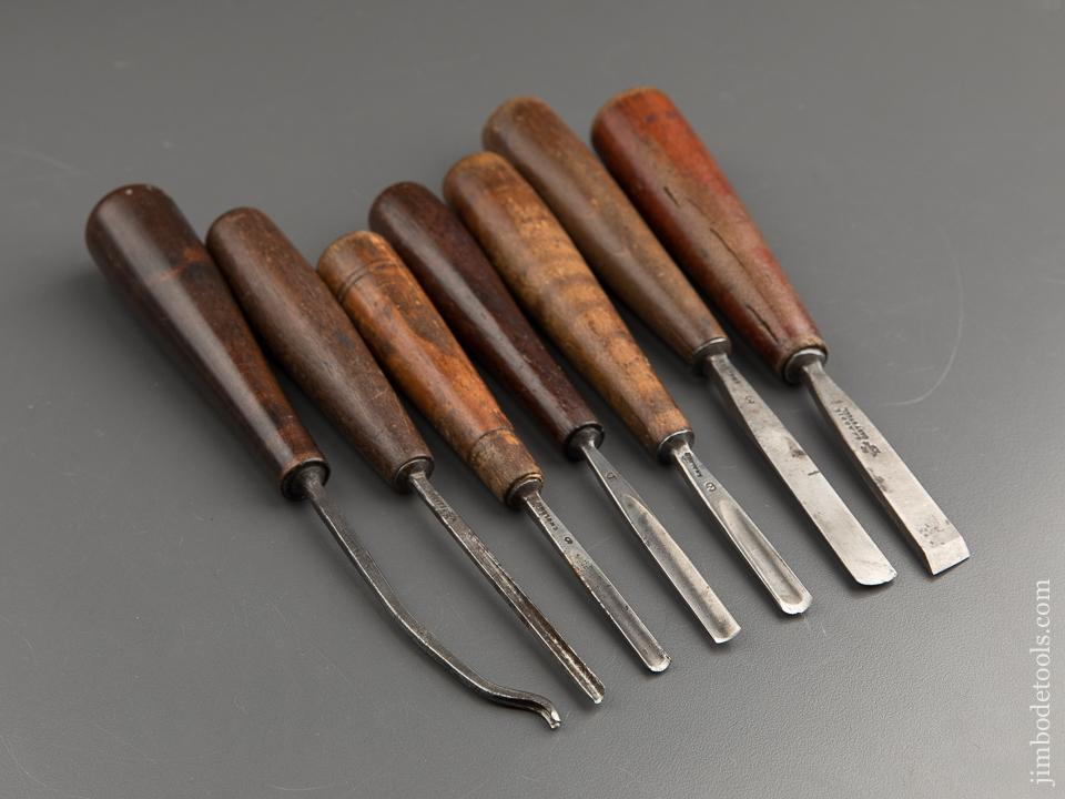 Set of Seven ADDIS Carving Chisels - 87733