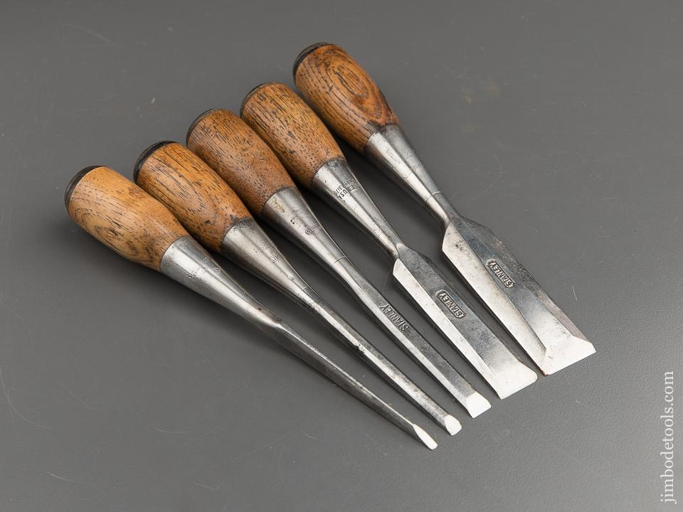 FINE Set of Five STANLEY No. 50 EVERLASTING Chisels - 87749