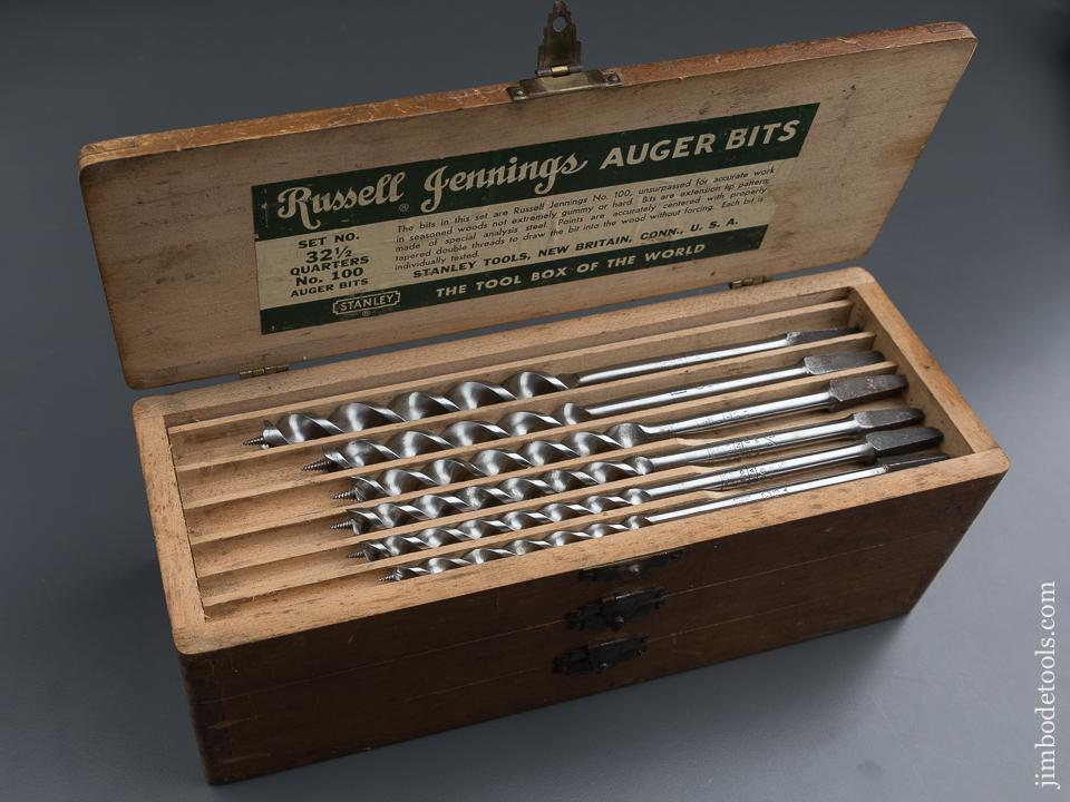 Complete Set of 13 RUSSELL JENNINGS Auger Bits in Original 3 Tiered Box - 87767