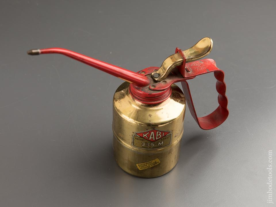 Patented KABI 3335-M Brass Oil Can - 87892