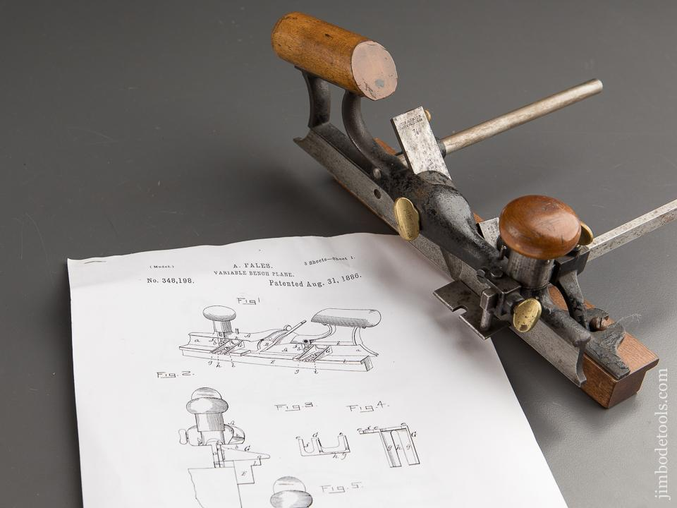 Extra Fine! FALES Patent August 31, 1886 Plow Plane with Numerous Parts - 87977