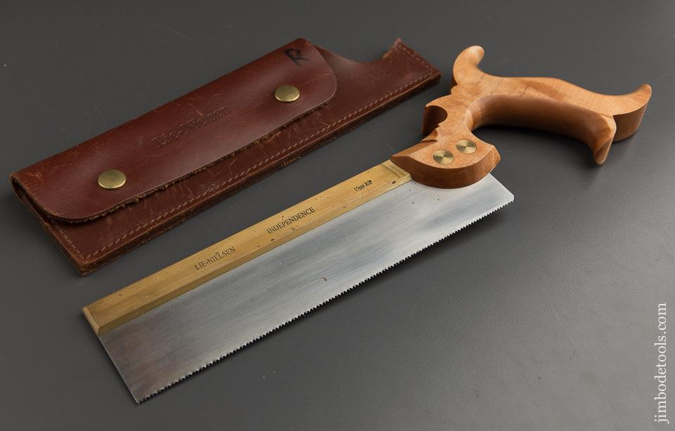 15 point 9 inch Rip LIE-NIELSEN INDEPENDENCE Hand Saw in Original Leather Sheath - 87986