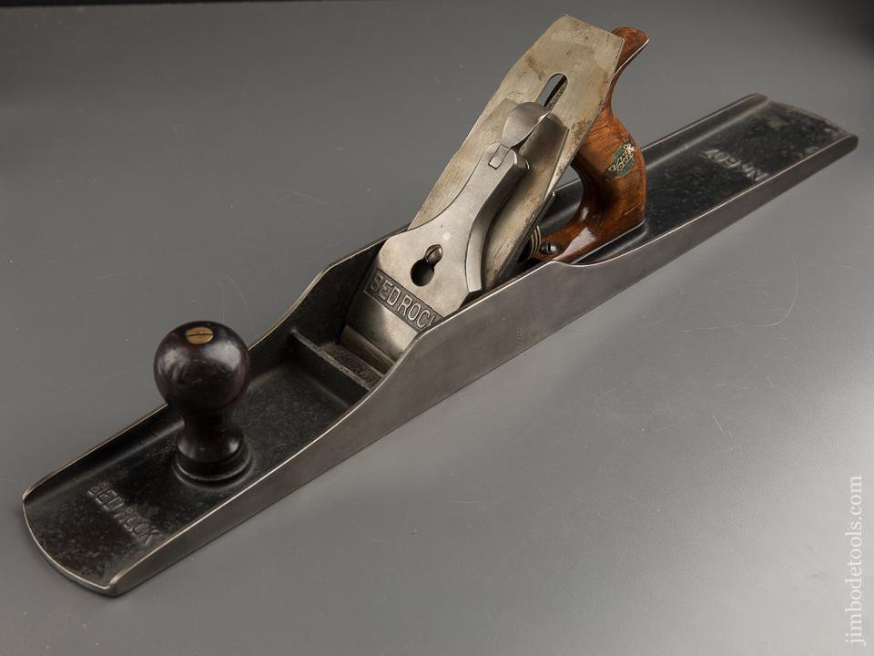 Extra Fine! STANLEY No. 607C BEDROCK Jointer Plane Type 7 circa 1923 with Decal - 87999