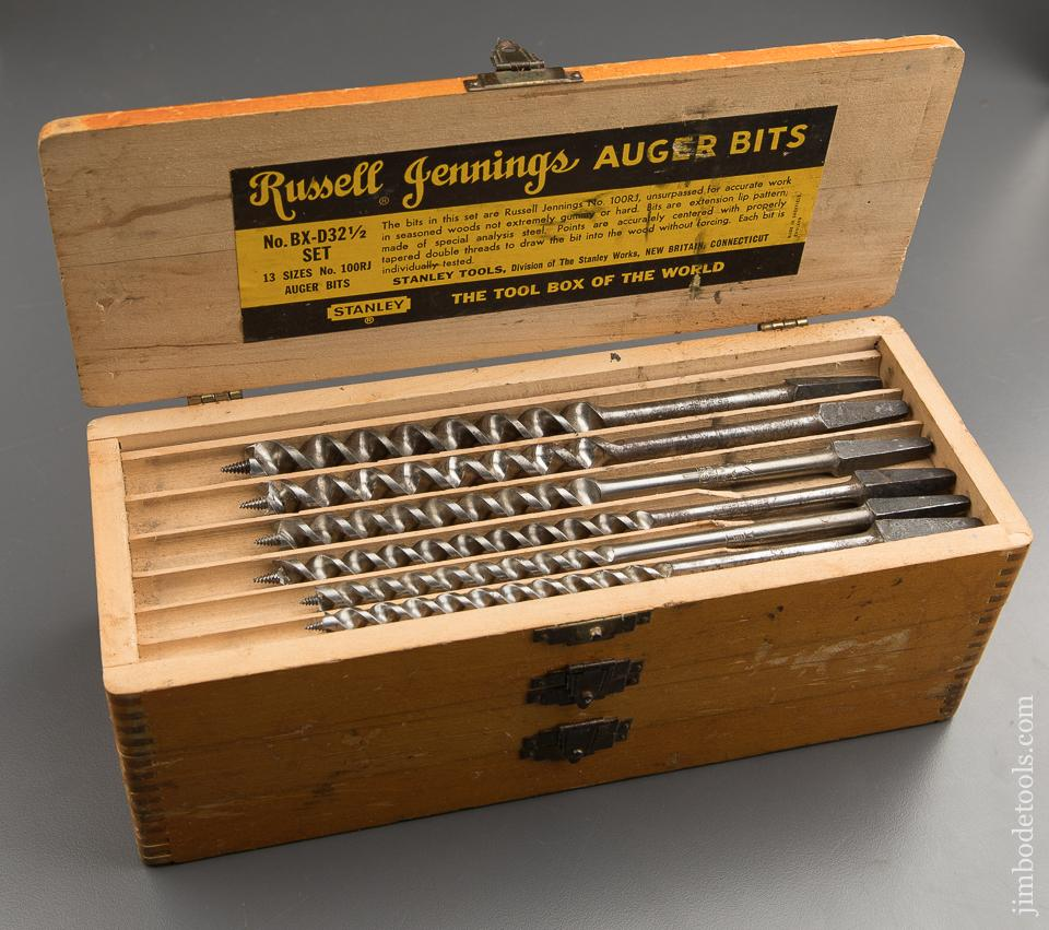 Complete Set of 13 RUSSELL JENNINGS Auger Bits in Original 3 Tiered Box - 88003