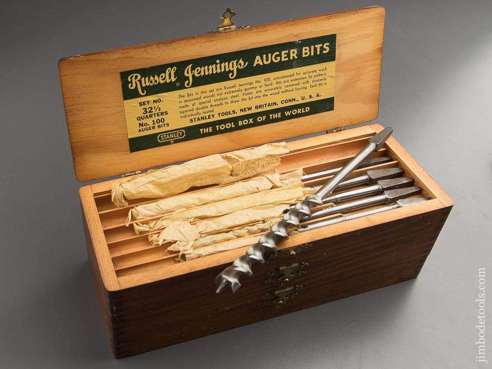 Complete Set of 13 RUSSELL JENNINGS Auger Bits in Original 3 Tiered Box - 88010