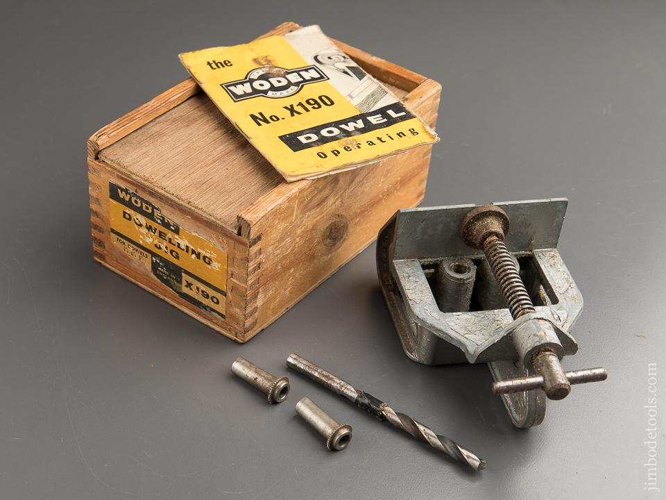 WODEN No. X190 Doweling Jig in Original Box - 88066