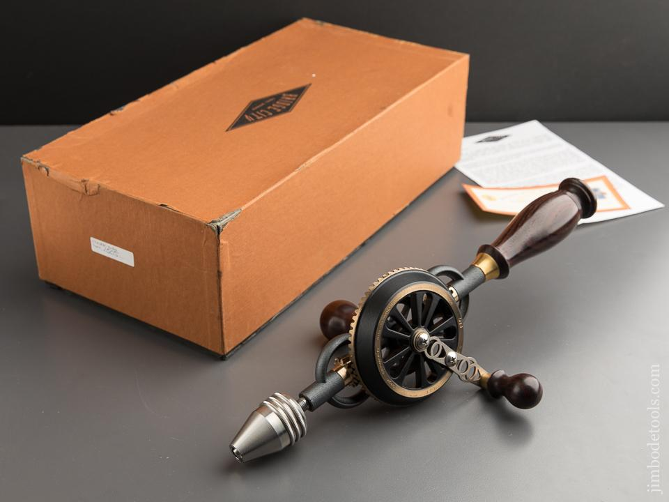 1998 BRIDGE CITY TOOL WORKS 15th Anniversary CT-6 Rosewood Hand Drill in Original Cardboard Box - 88109