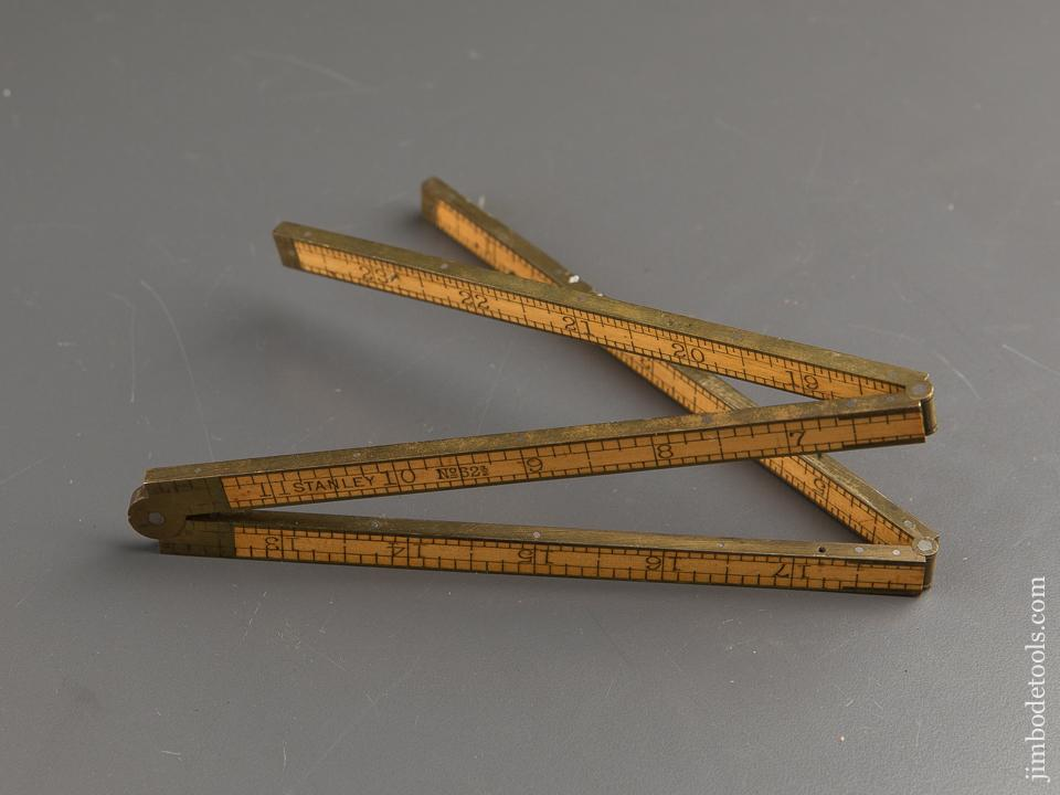 MINT Two Foot Four Fold STANLEY No. 62 1/2 Boxwood & Brass Carpenter's Rule - 88112