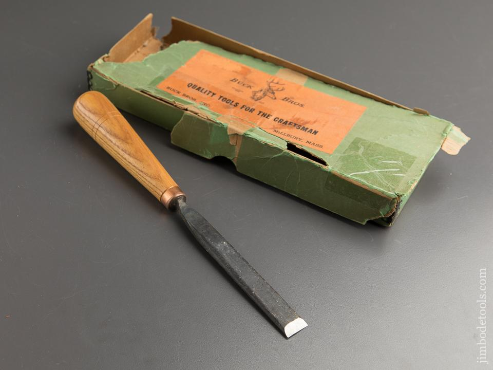 3/4 inch BUCK BROTHERS No. 3 Carving Gouge DEAD MINT in Original Box - 88222