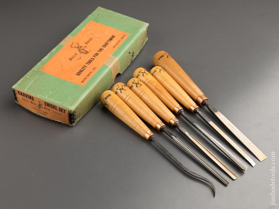 BUCK BROS Set of Six Chisels DEAD MINT in Original Box - 88229