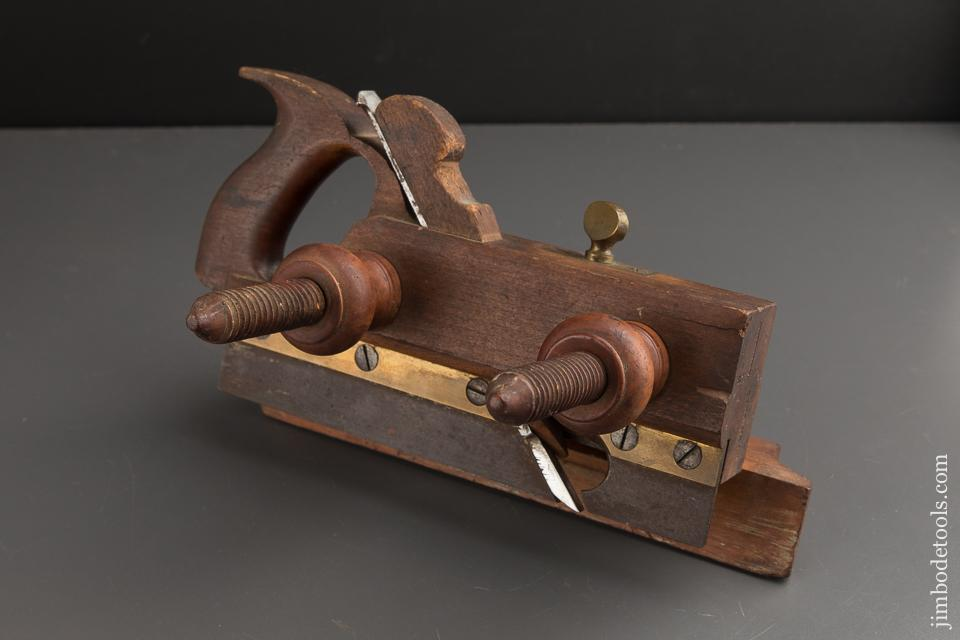 SHIVERICK Brooklyn, NY Handled Screw Arm Plow Plane circa 1865-67 - 88241