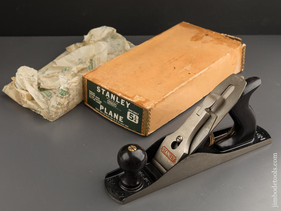 STANLEY No. 5 1/4 Junior Jack Plane Type 19 circa 1948-61 UNUSED in Original Box - 88262