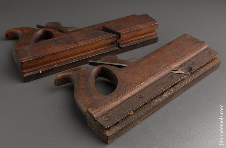 Great! RARE Handled Set of 7/8 inch Tongue & Groove Planes by H. CHAPIN UNION FACTORY circa 1828-87 - 88332
