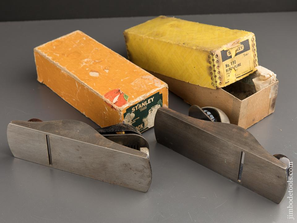 Two STANLEY Block Planes! No. 110 & No. 220 Both in Original Box - 88345