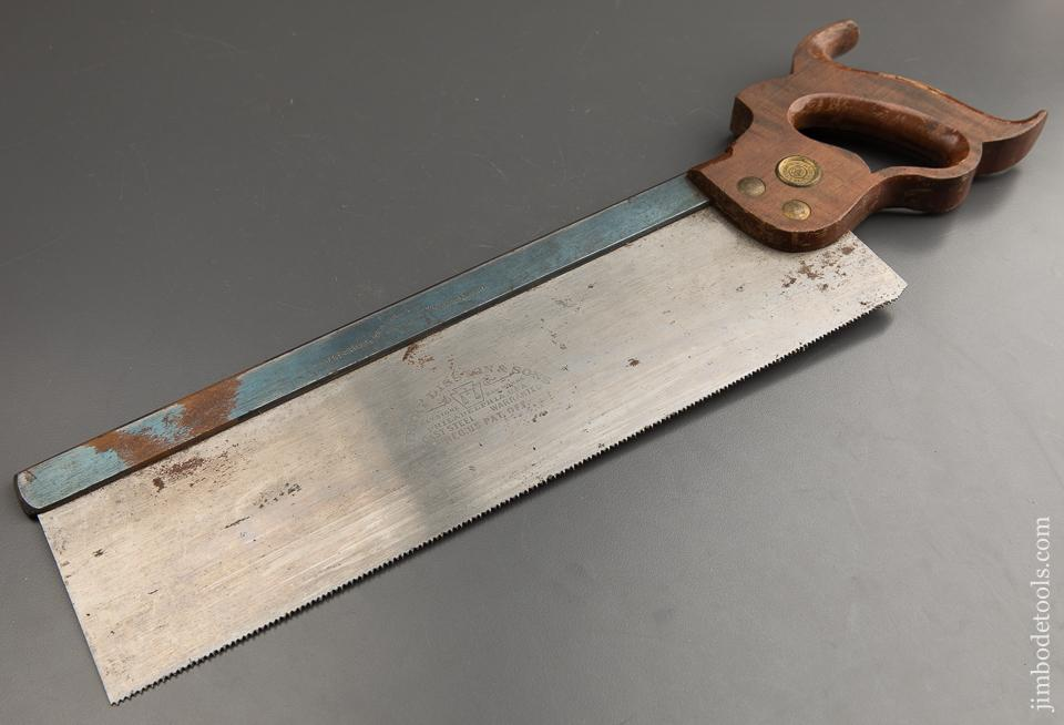 NEW OLD STOCK 13 point 14 inch DISSTON Back Saw Tenon Saw - 88462
