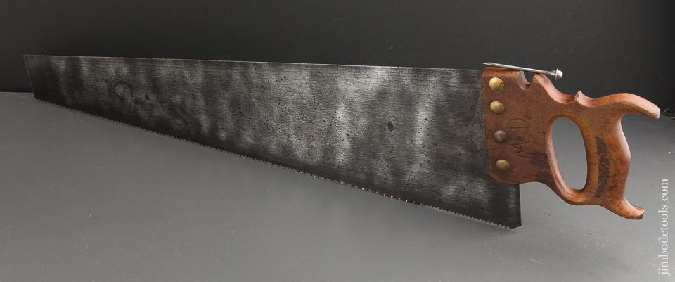 RARE 7 point 26 inch Crosscut JACKSON GORHAM DISSTON No. 29 Combination Saw with Scribe - 88496