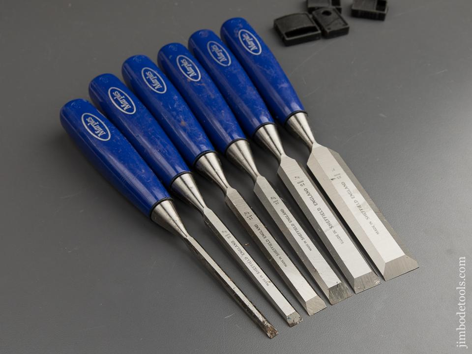 Great Set of Six MARPLES Blue Chip Chisels - 88612