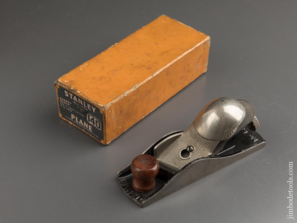 STANLEY No. 140 Rabbet Block Plane EXTRA FINE in Original Box SWEETHEART - 88635