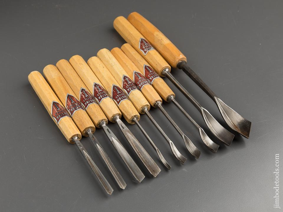 Ten DASTRA Carving Gouges with Decals - 88639