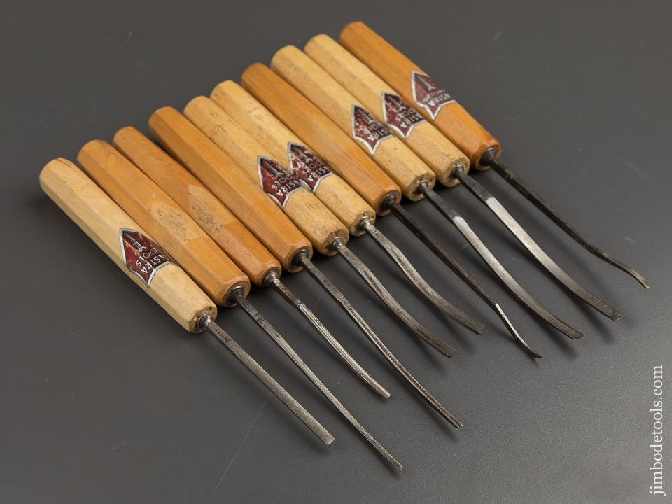 Ten DASTRA German Carving Gouges with Decals - 88642