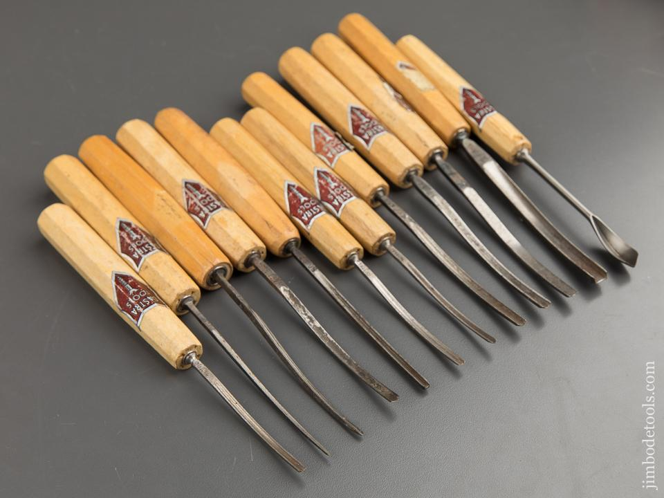 Twelve DASTRA Carving Gouges with Decals - 88655