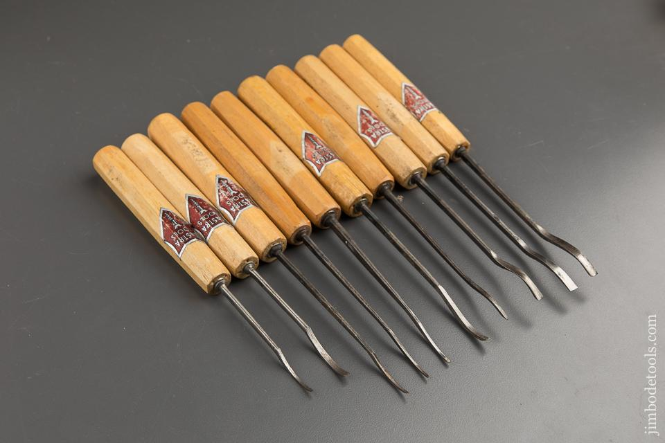 Ten DASTRA CARVING Gouges with Decals - 88671