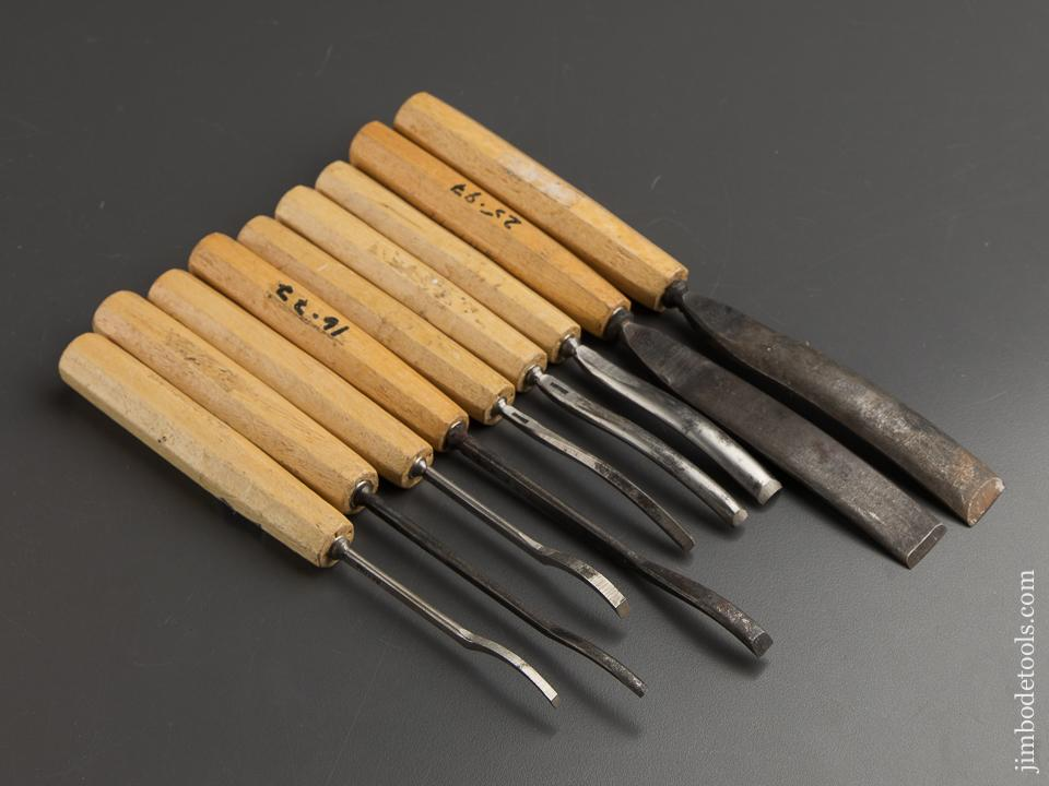 Nine DASTRA Carving Gouges with Decals - 88673