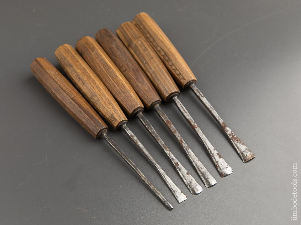 Set of Six Fishtail Gouges by I&H SORBY - 88701