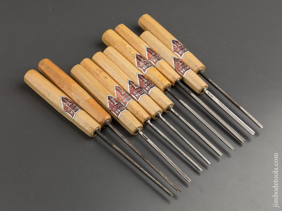 Ten DASTRA Carving Gouges with Decals - 88741