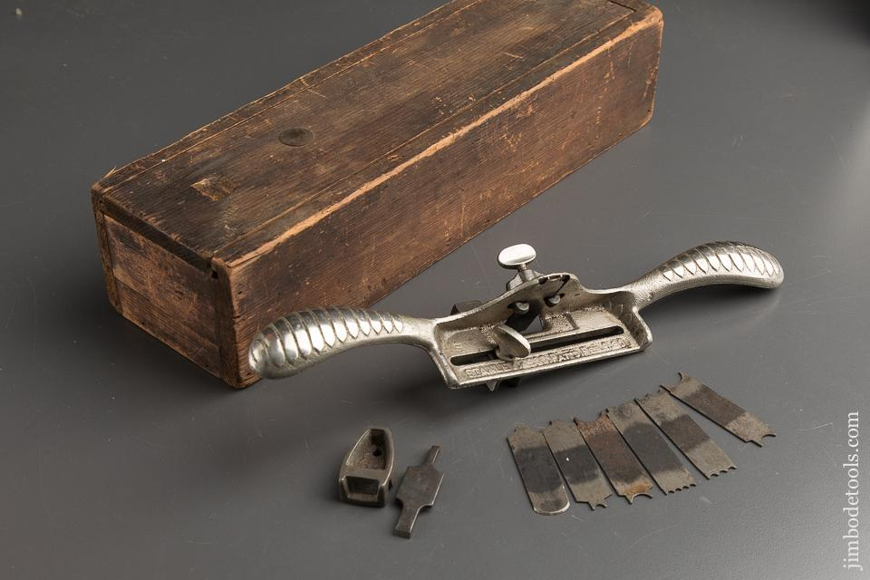 STANLEY No. 66 Hand Reader with ALL Eight Cutters & Both Stops FINE in Custom Wooden Box - 88753