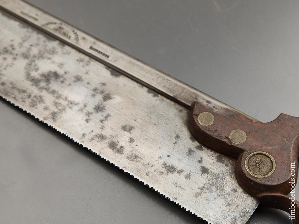 Very Rare! NORTON JEWETT & BUZBY NY Triple Cove Saw - 88767U