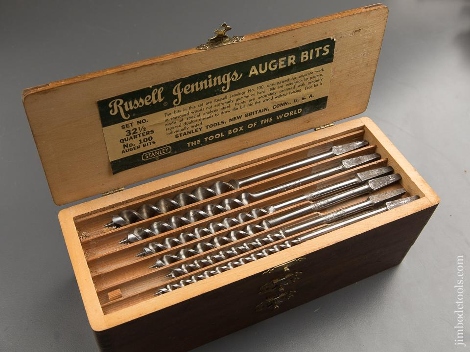 EXCELLENT Complete Set of 13 RUSSELL JENNINGS Auger Bits in Original 3 Tiered Box - 88801