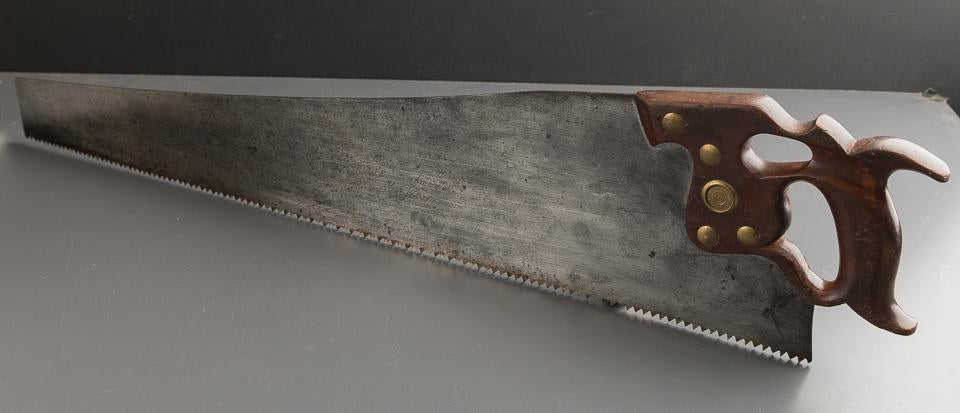 5 point 28 inch Rip DISSTON D8 Thumb Hole Hand Saw circa 1896-1917 - 88841