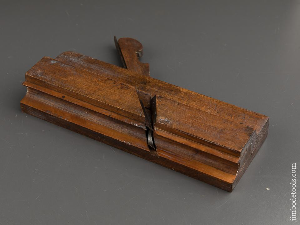 6/8 inch Double Box Side Bead Molding Plane by D.R. BARTON ROCHESTER NY circa 1832-74 GOOD++ - 88878