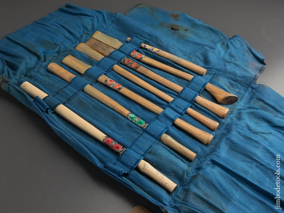 Adorable! Salesman's Sample Axe and Hammer Handles in Roll by TURNER DAY & WOOLWORTH - 88911