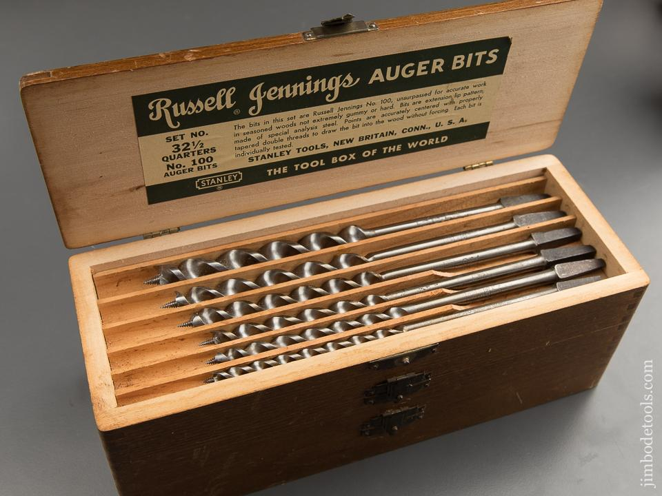 Extra Fine! Complete Set of 13 RUSSELL JENNINGS Auger Bits in Original 3 Tiered Box - 88949