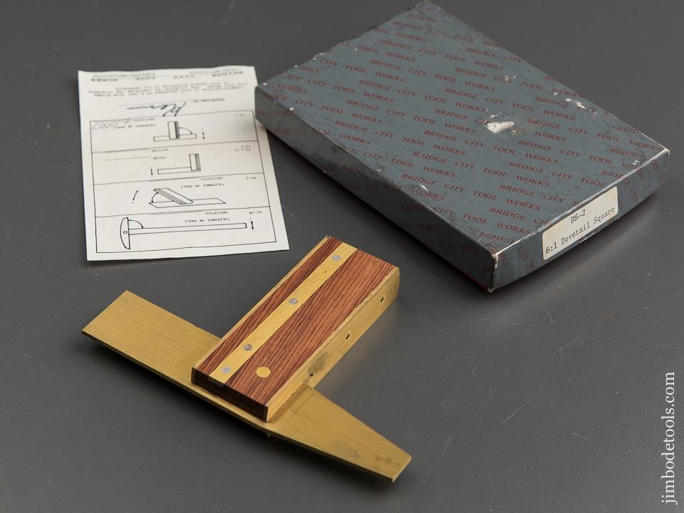 BRIDGE CITY TOOL WORKS DS-2 Dovetail Square in Original Box - 89000