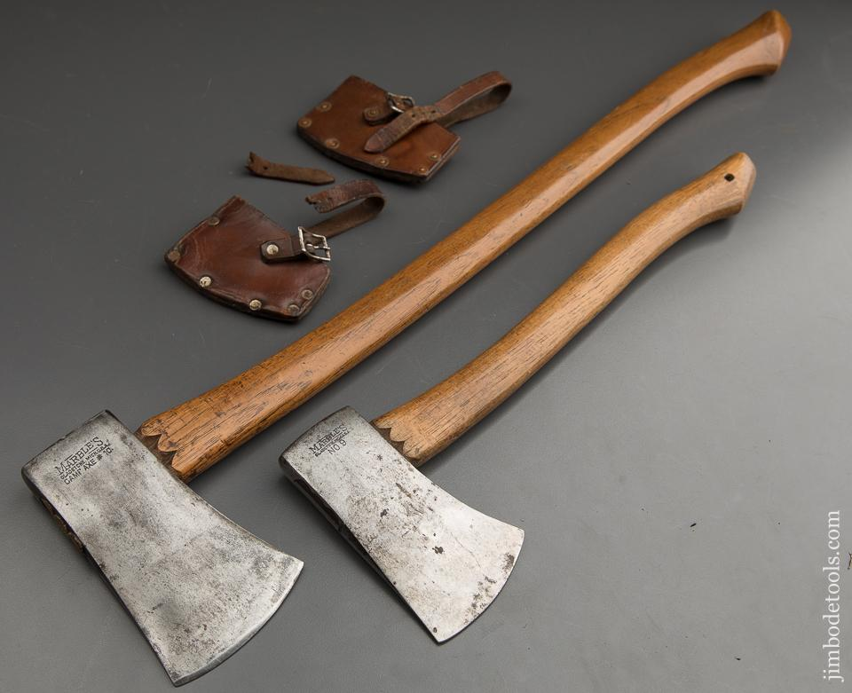 RARE Pair of MARBLES Axes with Sheaths - 89050