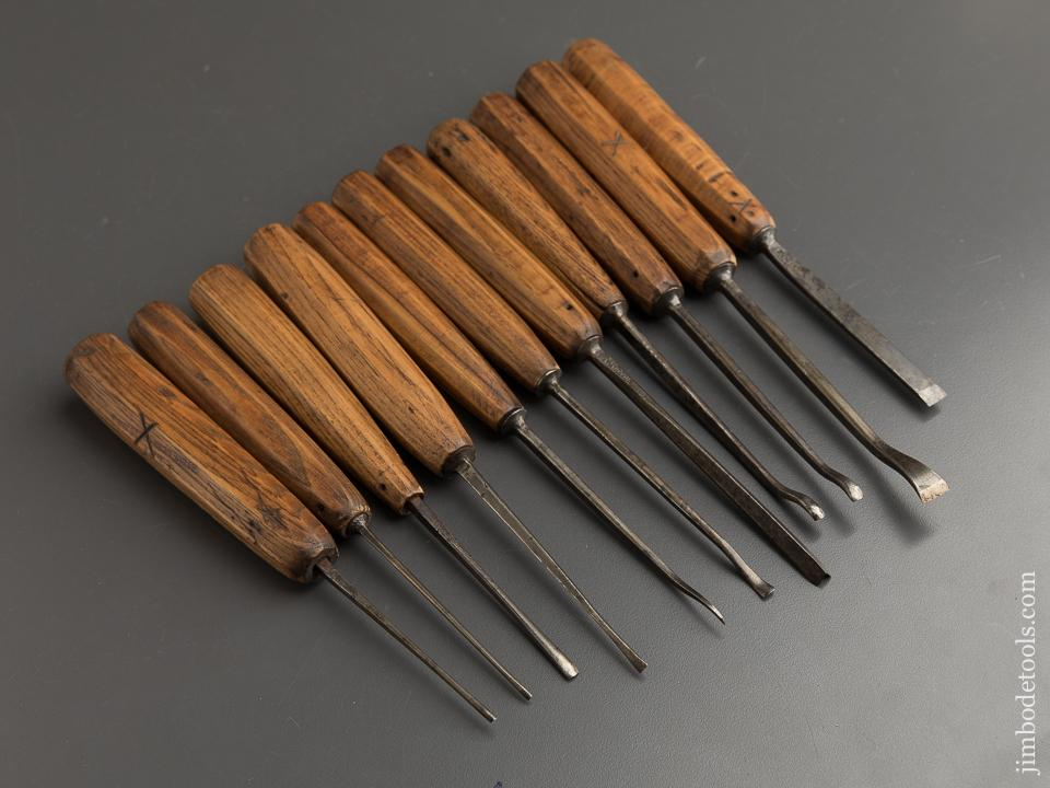 Set of Eleven HERRING BROS Carving Gouges - 89108