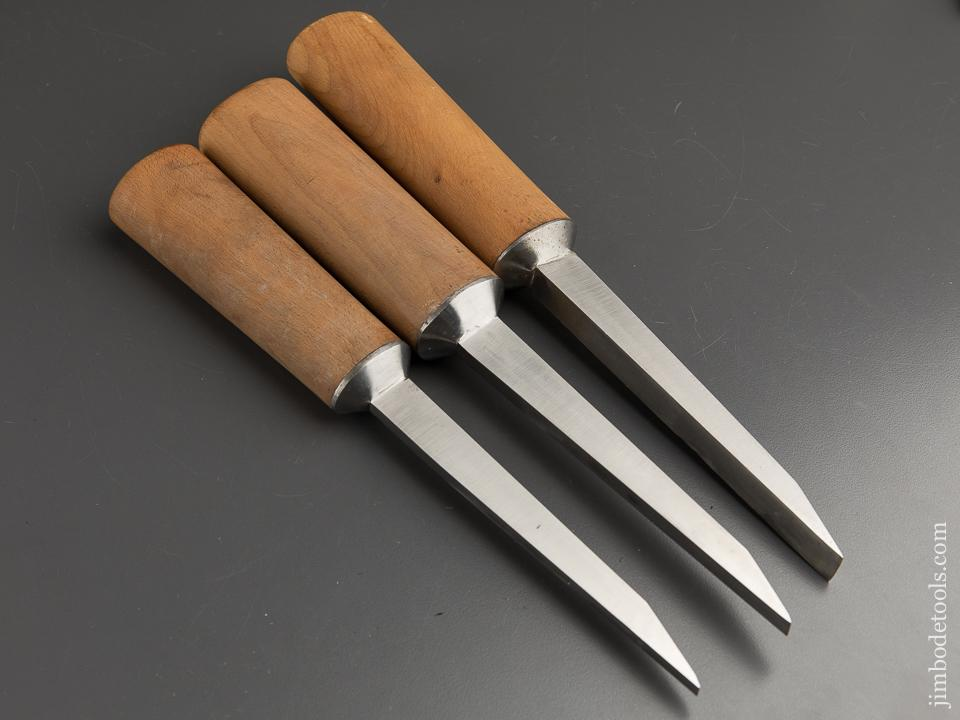Three Beautiful RAY ILES Pig Sticker Mortise Chisels - 89114