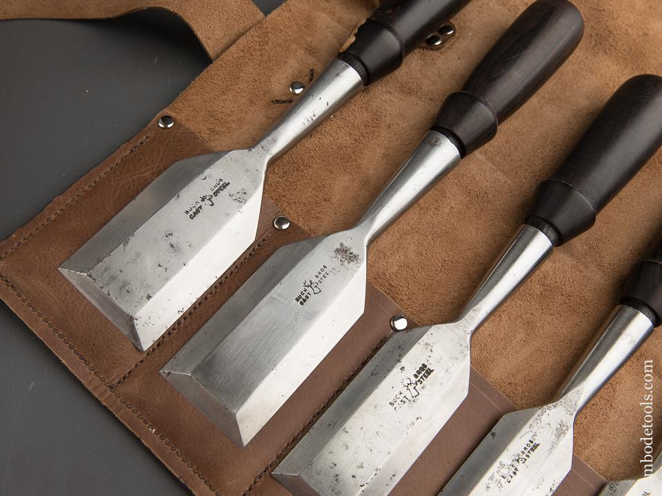 AMAZING Set of Eleven BUCK BROTHERS Bench Chisels with Ebony Handles! - 89130