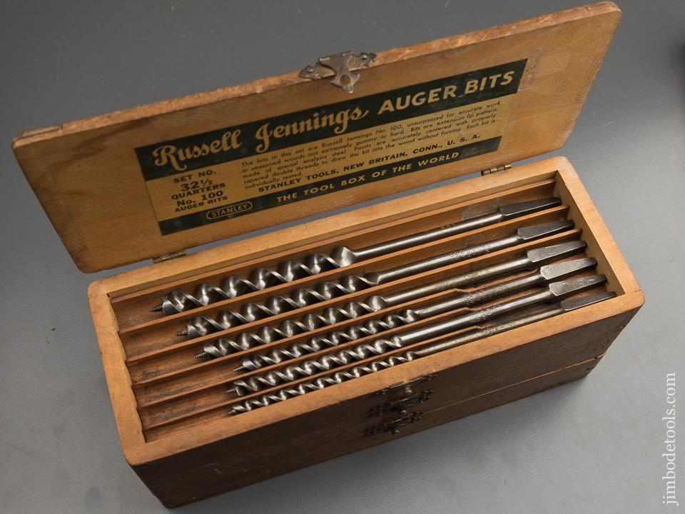 Complete Set of 13 RUSSELL JENNINGS Auger Bits in Original 3 Tiered Box - 89131